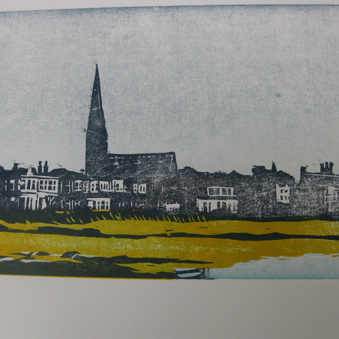 Portobello - Linoprint by Windmill Stump