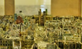Model of Wurzburg after WWII