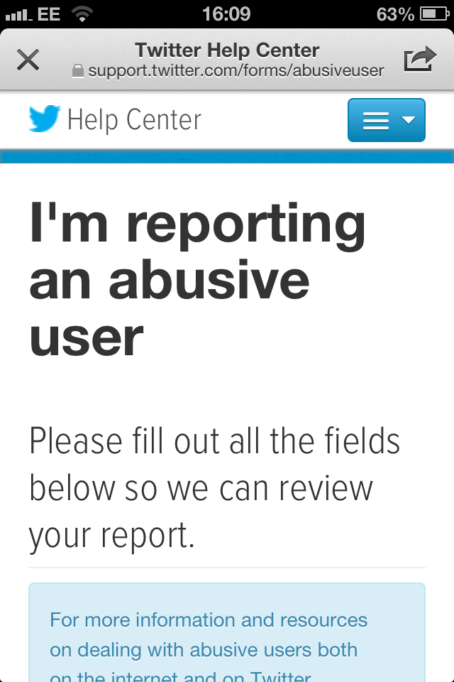 A Twitter Trolliday – And Reporting Abuse on Twitter